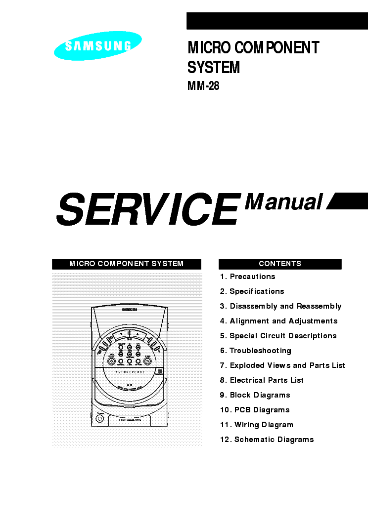 SAMSUNG RCD-750 Service Manual free download, schematics