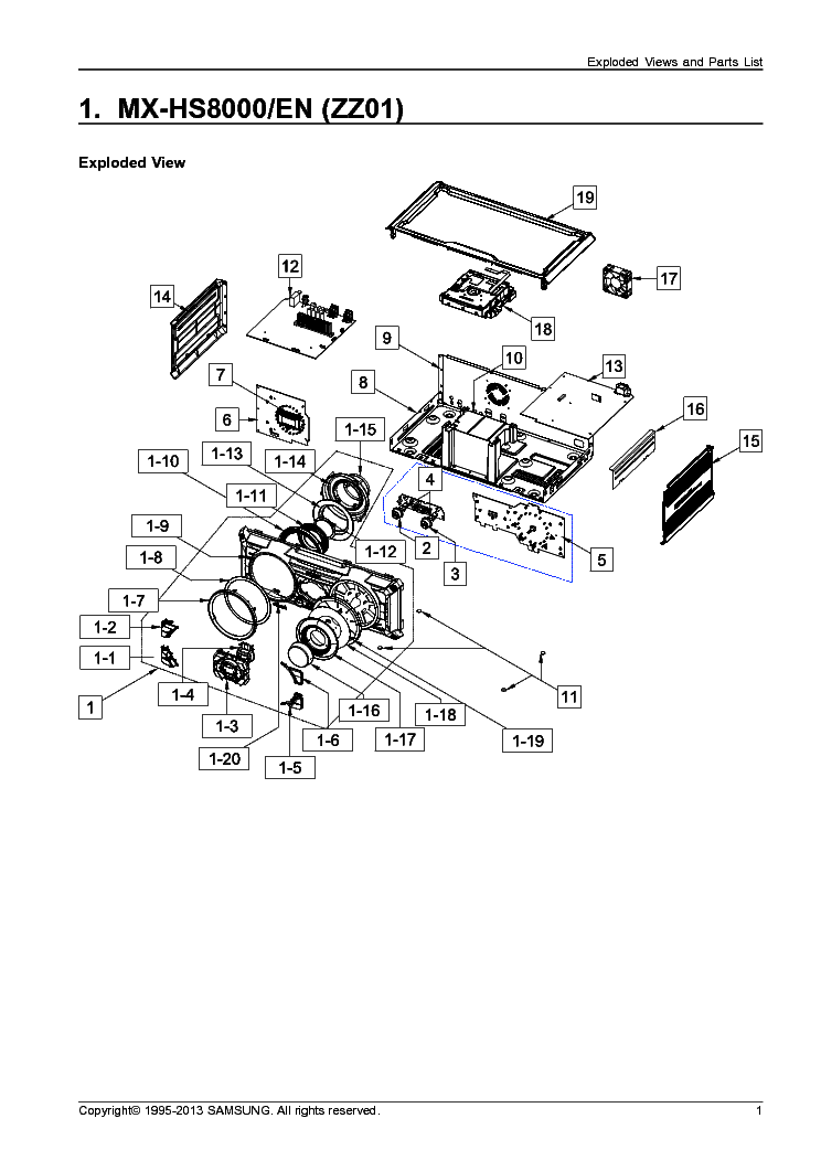 SAMSUNG MX-HS8000 PARTS Service Manual download