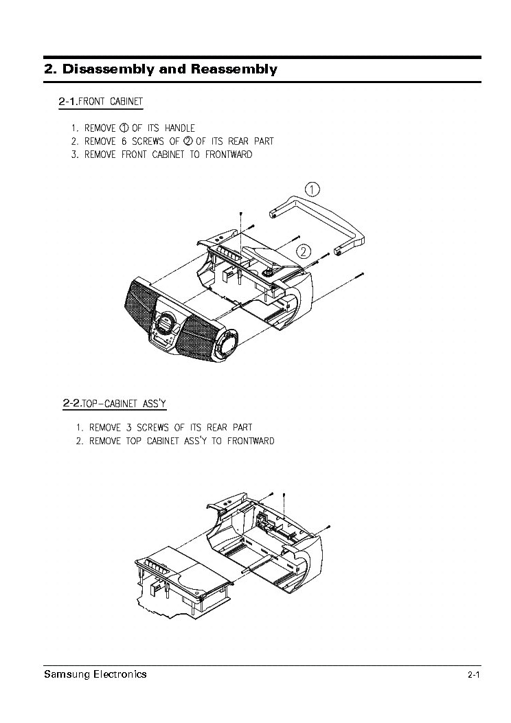 SAMSUNG RCD-M50 M50B M55 M55G Service Manual download