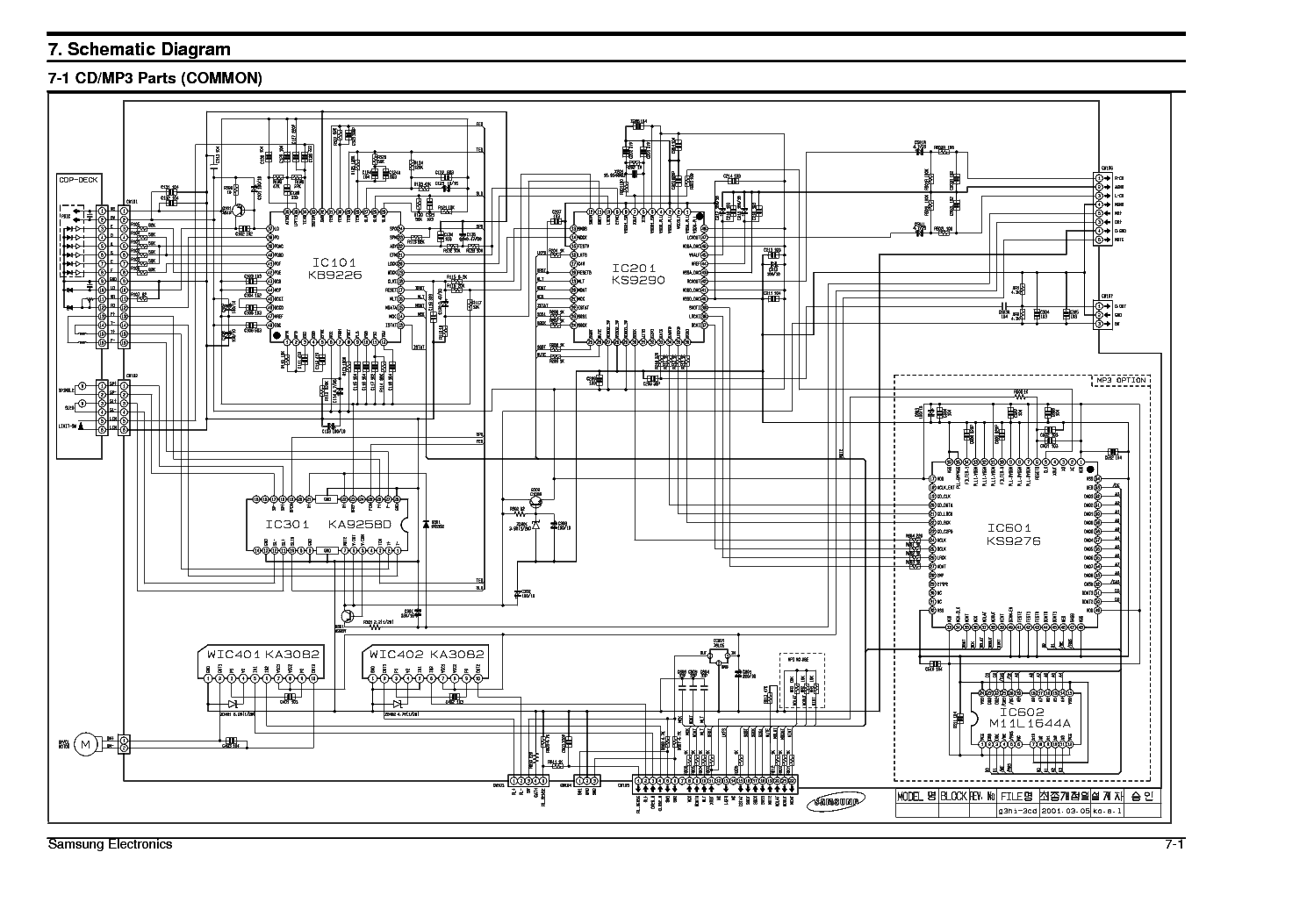 SAMSUNG RCD-590 Service Manual free download, schematics