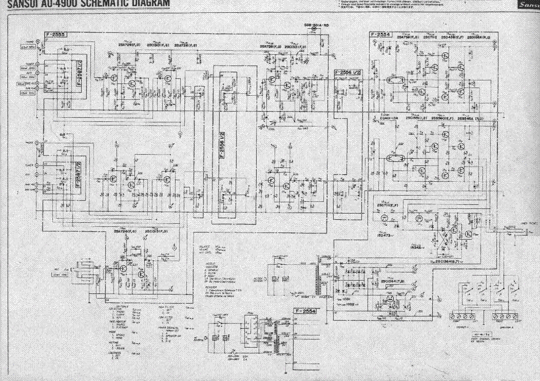 SANSUI AU-4900 Service Manual download, schematics, eeprom