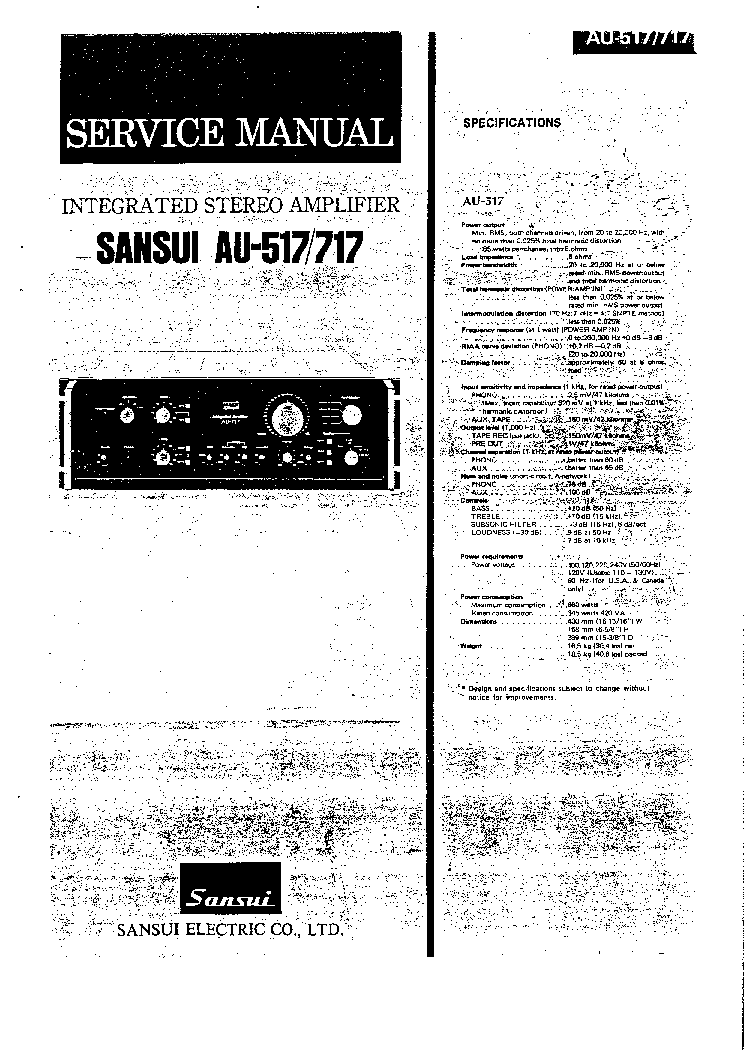 SANSUI A-900P 930P Service Manual free download