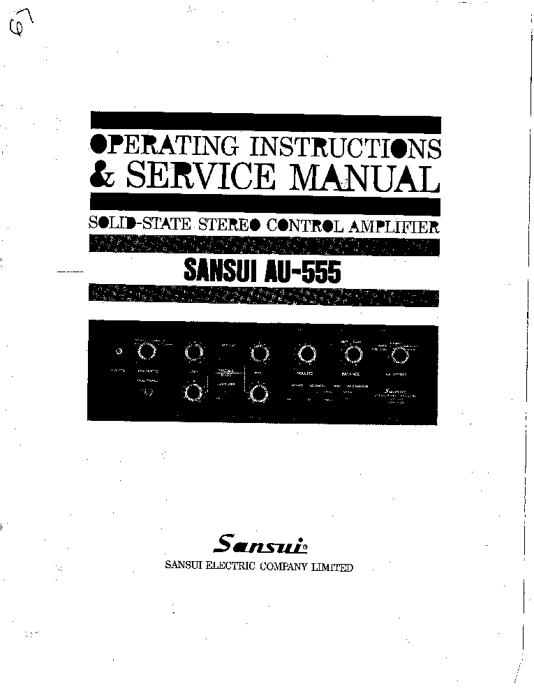 SANSUI AU-555 Service Manual download, schematics, eeprom