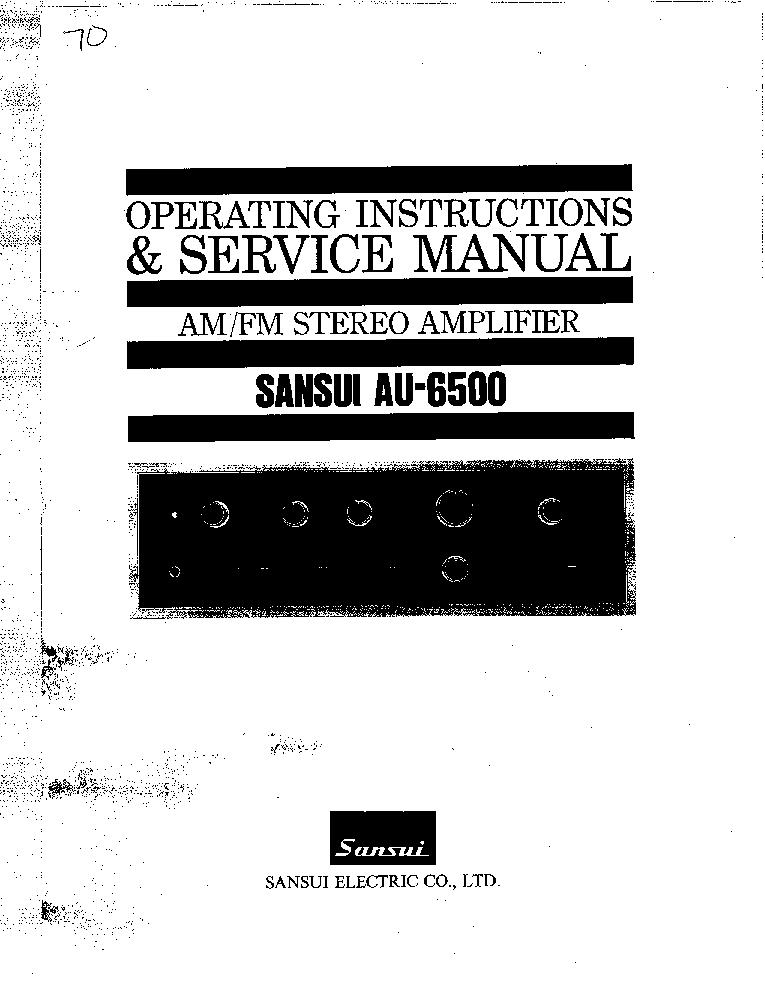 SANSUI AU-6500 Service Manual download, schematics, eeprom
