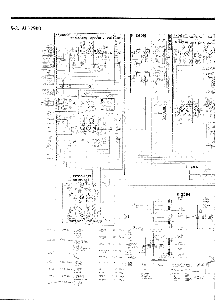 SANSUI AU-7900-AMPLIFIER Service Manual free download
