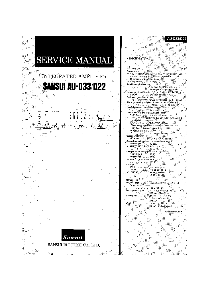 SANSUI AU-4900 Service Manual free download, schematics