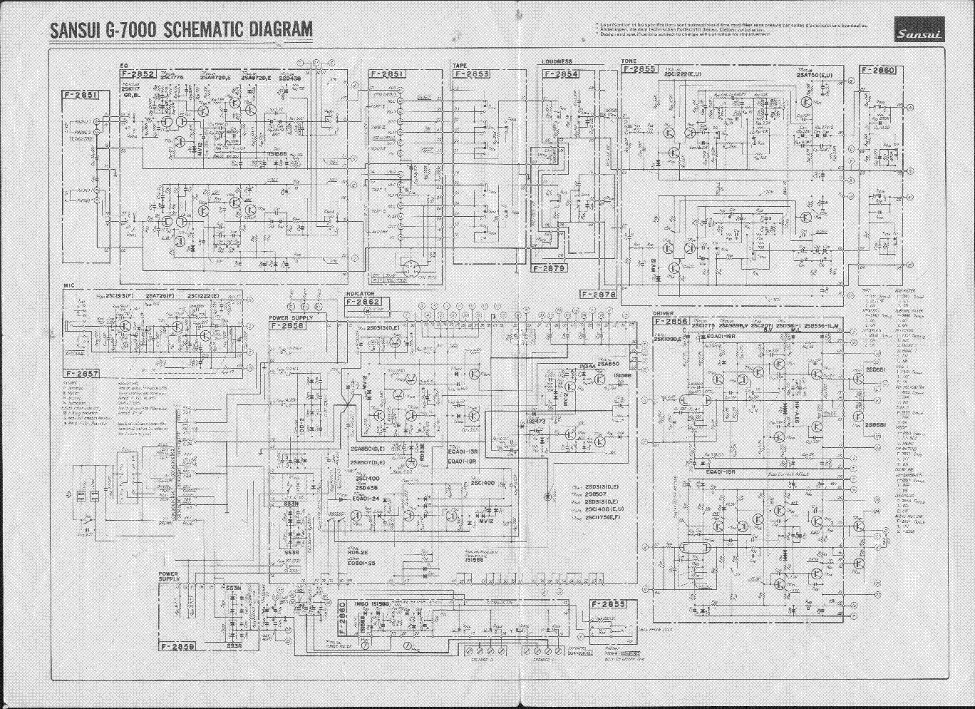 SANSUI A40 SM Service Manual download, schematics, eeprom