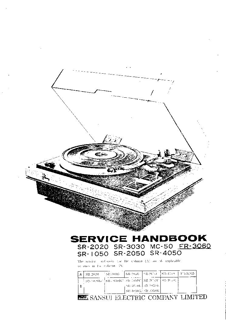 SANSUI B1000 B3000 Service Manual download, schematics