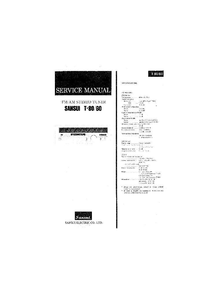 SANSUI AX-7 Service Manual download, schematics, eeprom
