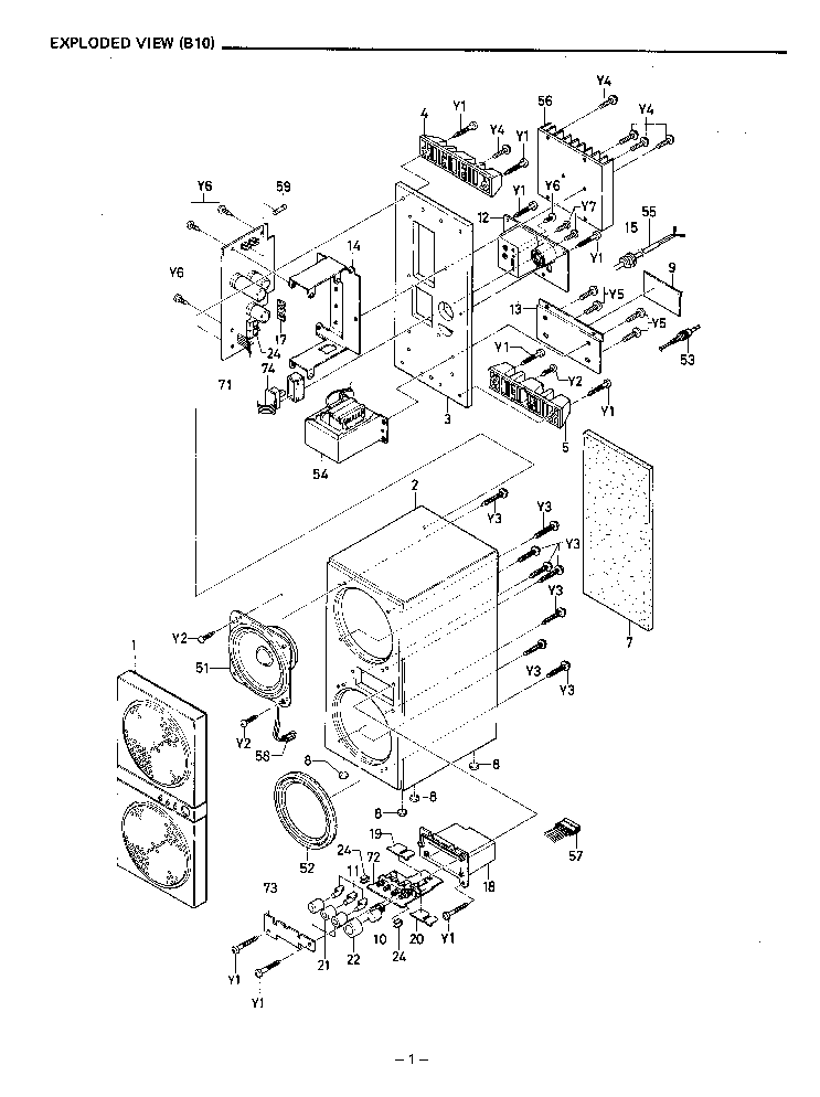 SANYO B10 B10-S Service Manual download, schematics
