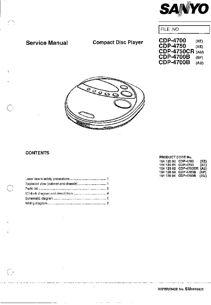 SANYO DCA-401 SCH 2 Service Manual download, schematics