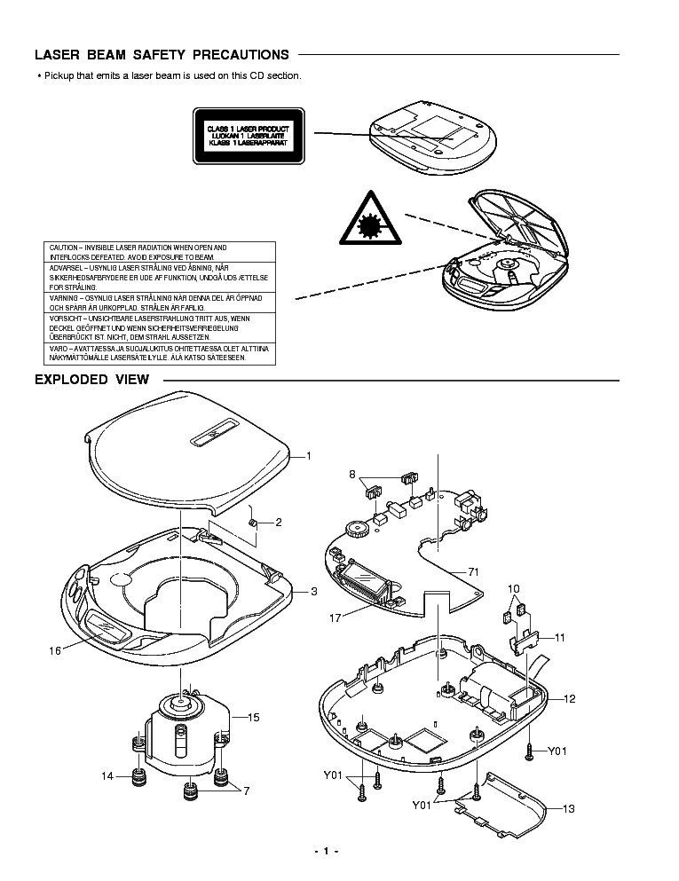 SANYO CDP-950 Service Manual download, schematics, eeprom