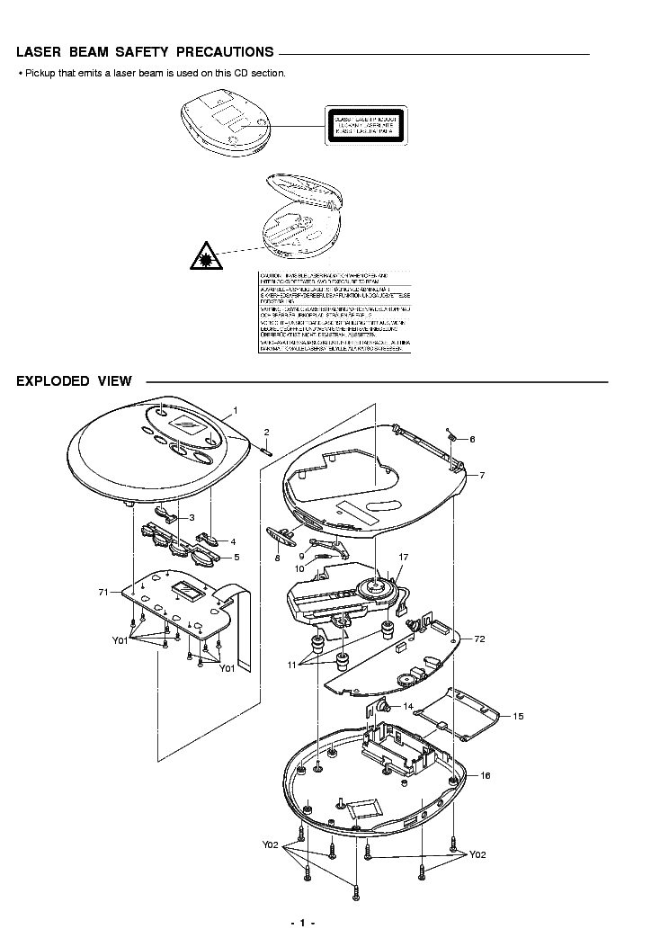 SANYO CDP-970 Service Manual download, schematics, eeprom