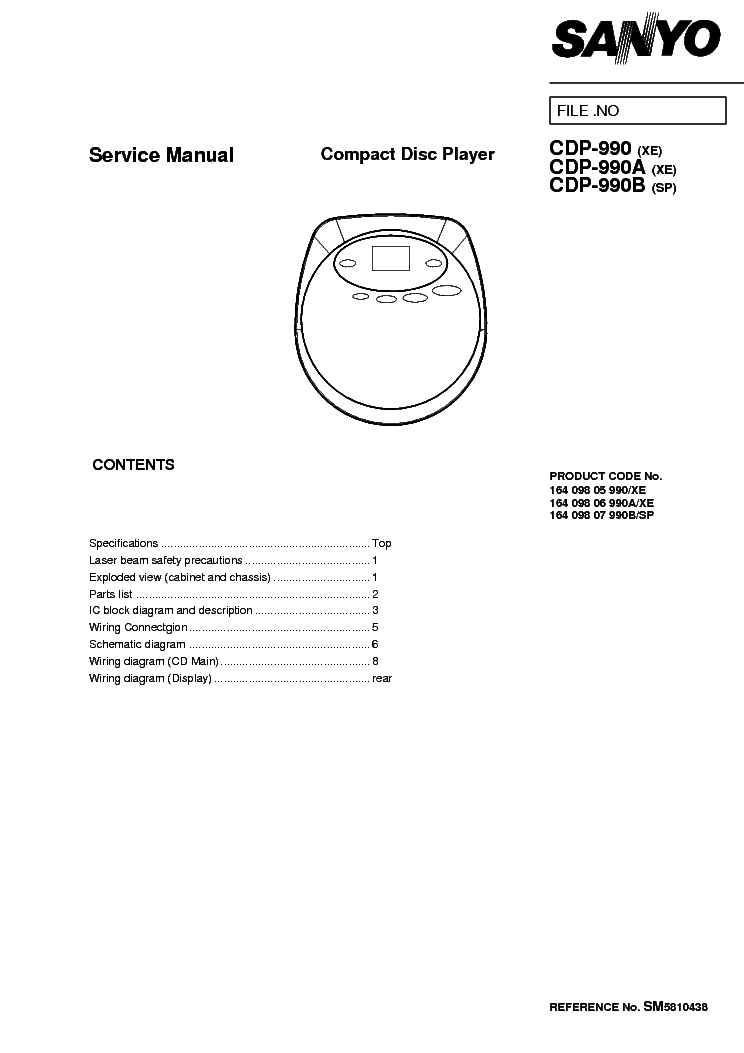 SANYO DC-C70 AMP SCH Service Manual download, schematics