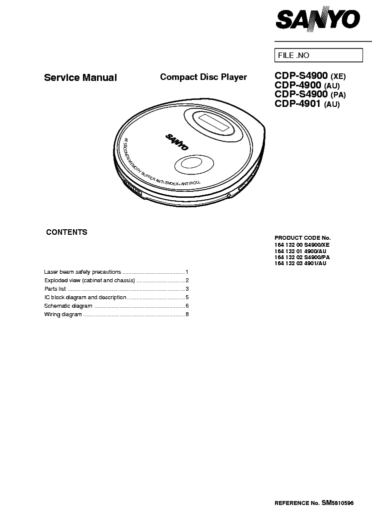 SANYO DC-T55 SM Service Manual free download, schematics