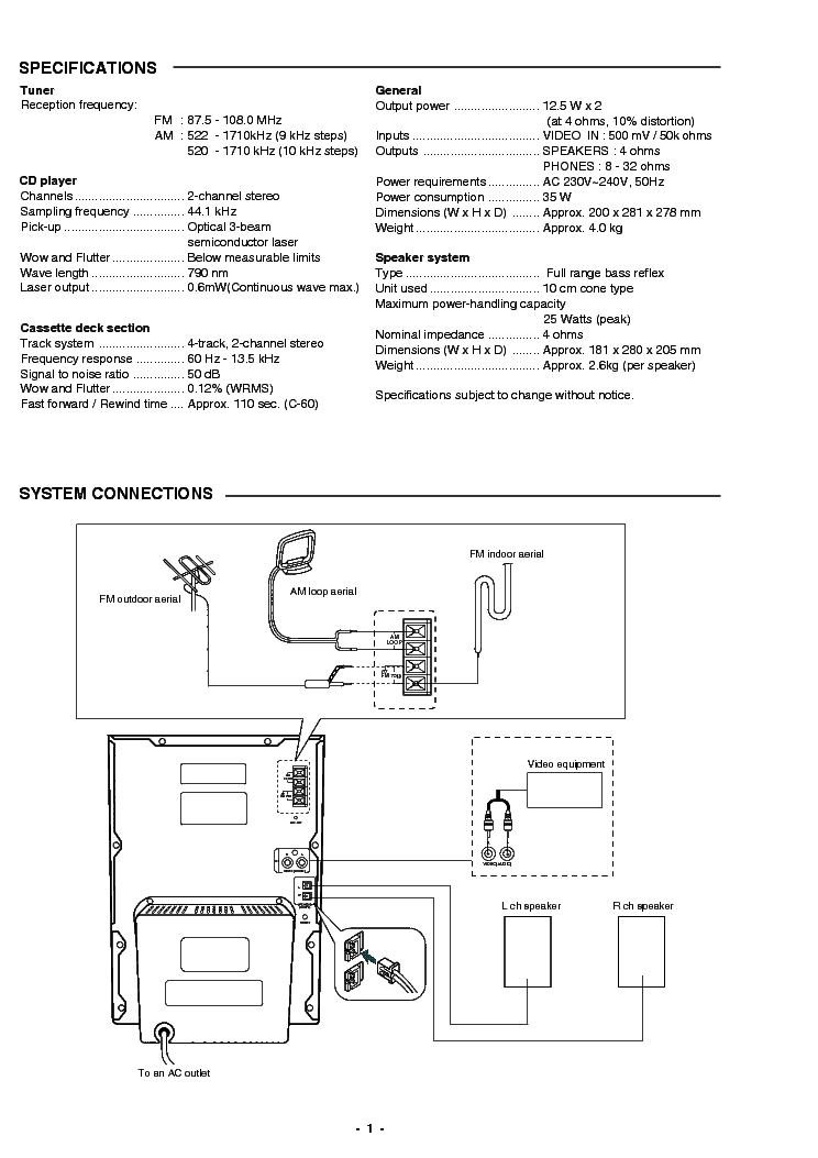 SANYO DC-BM300 SM Service Manual download, schematics