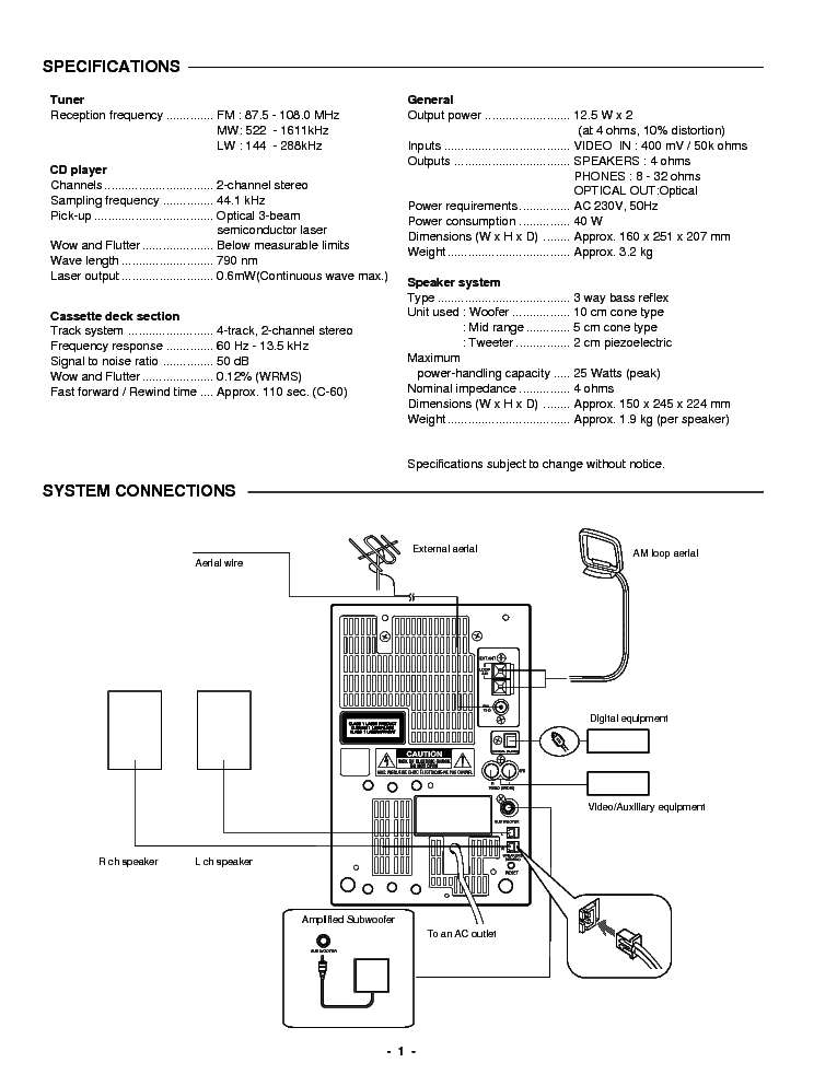 SANYO DC-DA370 XE SM Service Manual download, schematics
