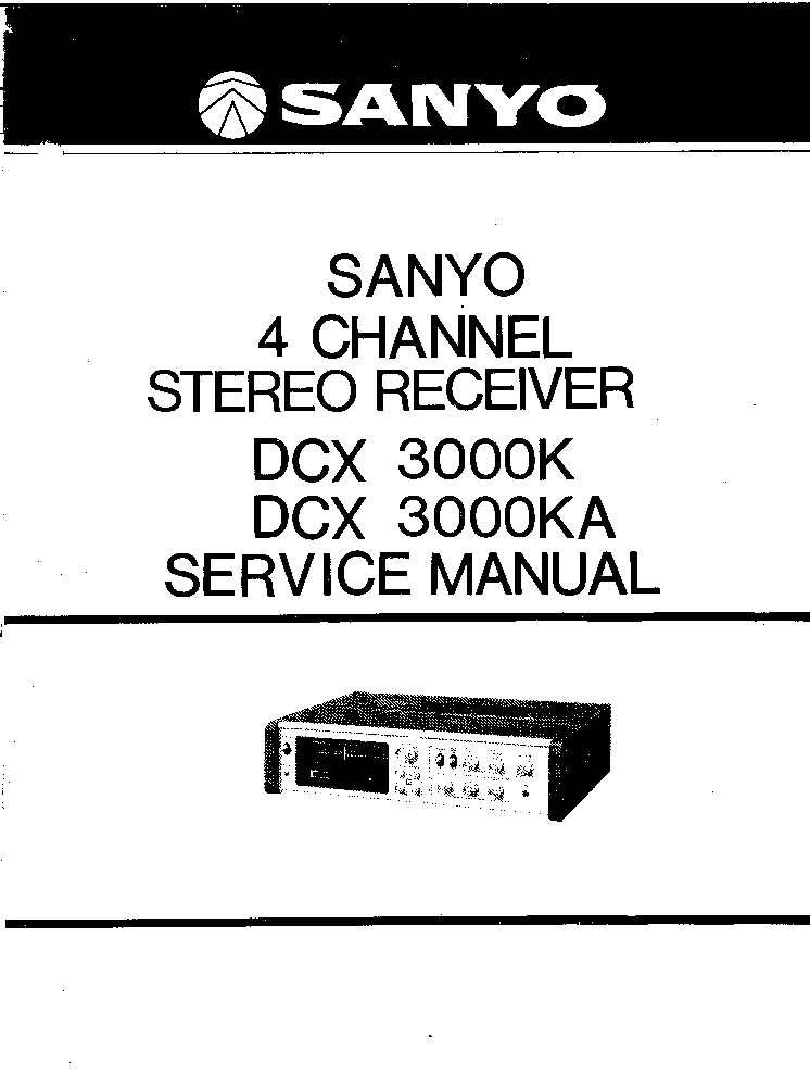SANYO DC-X3000K SM Service Manual download, schematics