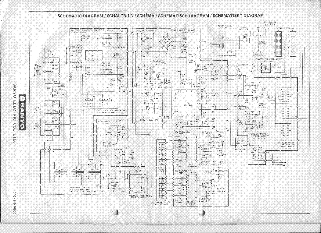 SANYO DCA-3510 SCH Service Manual download, schematics