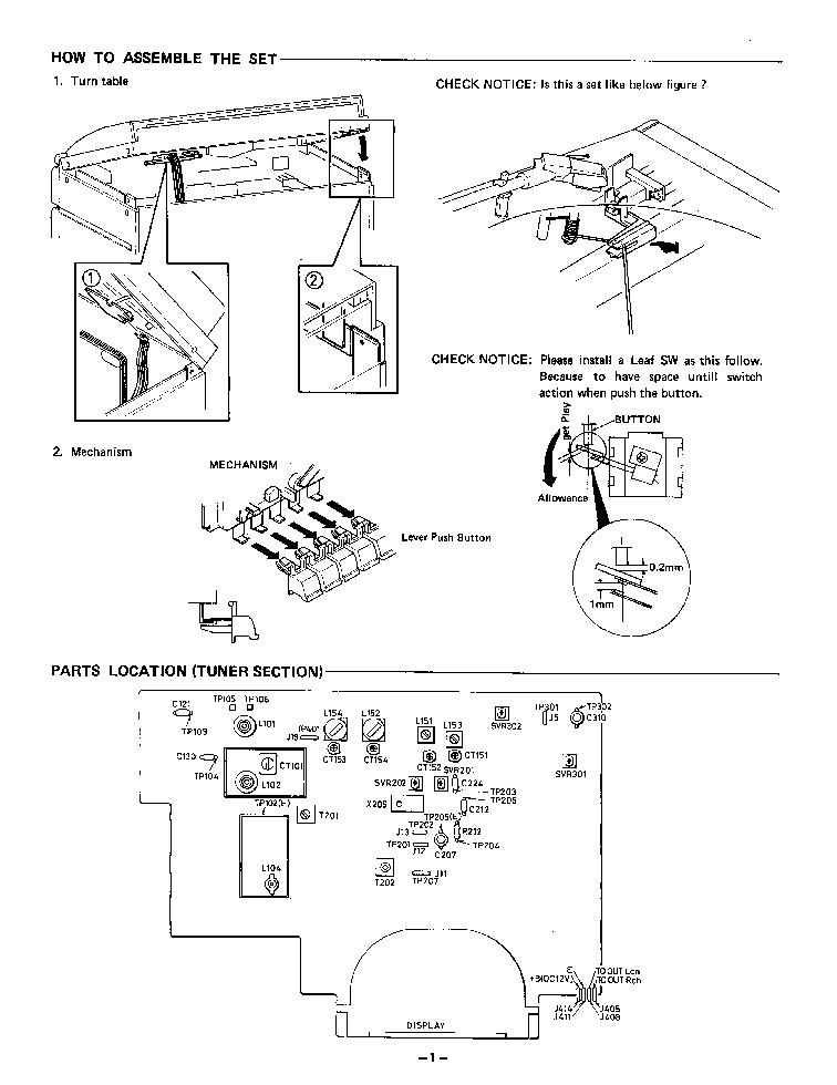 SANYO DCX49 Service Manual download, schematics, eeprom