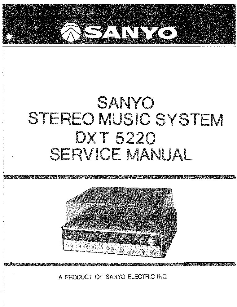SANYO JA-300 Service Manual free download, schematics