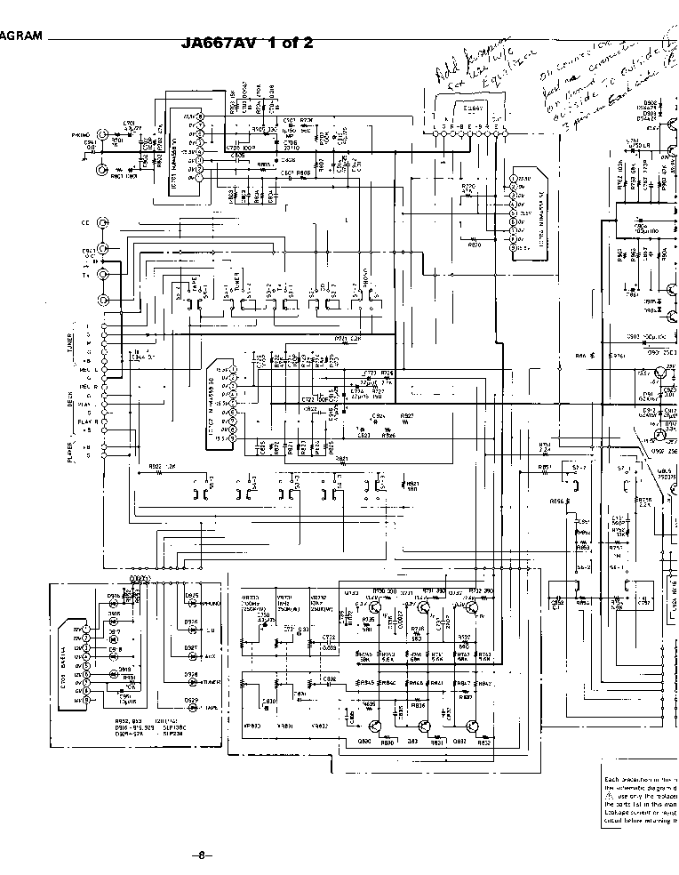SANYO JA-667AV SCH 2 Service Manual download, schematics