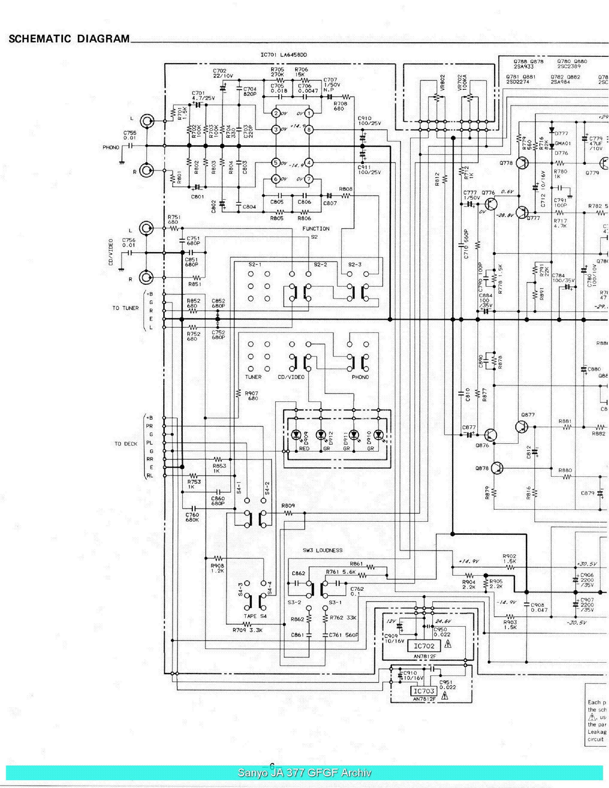 SANYO JA377 SCH Service Manual download, schematics