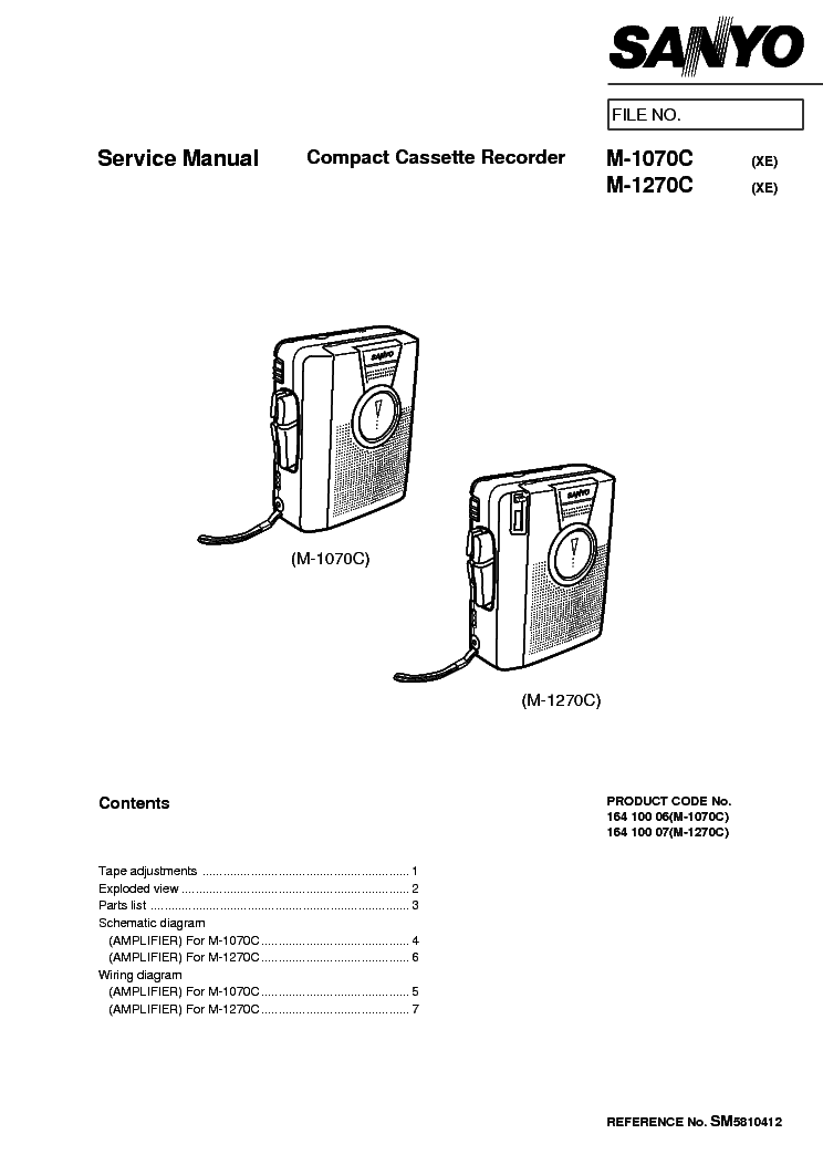 SANYO RP-5040 Service Manual download, schematics, eeprom