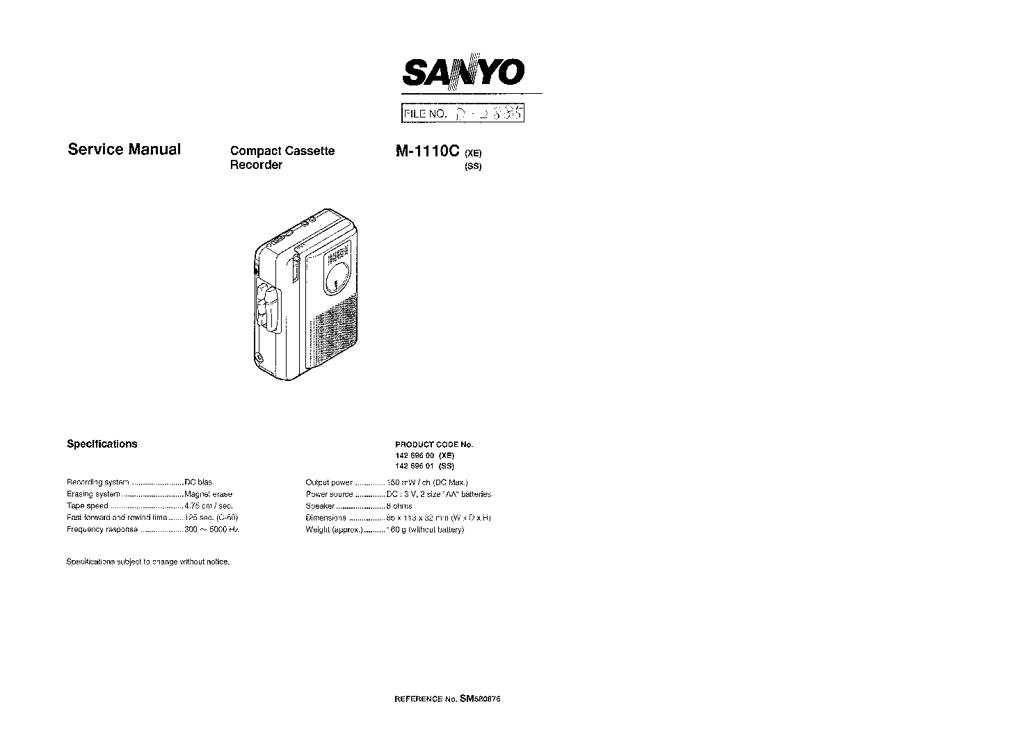 SANYO 6SC 10 SCH Service Manual download, schematics
