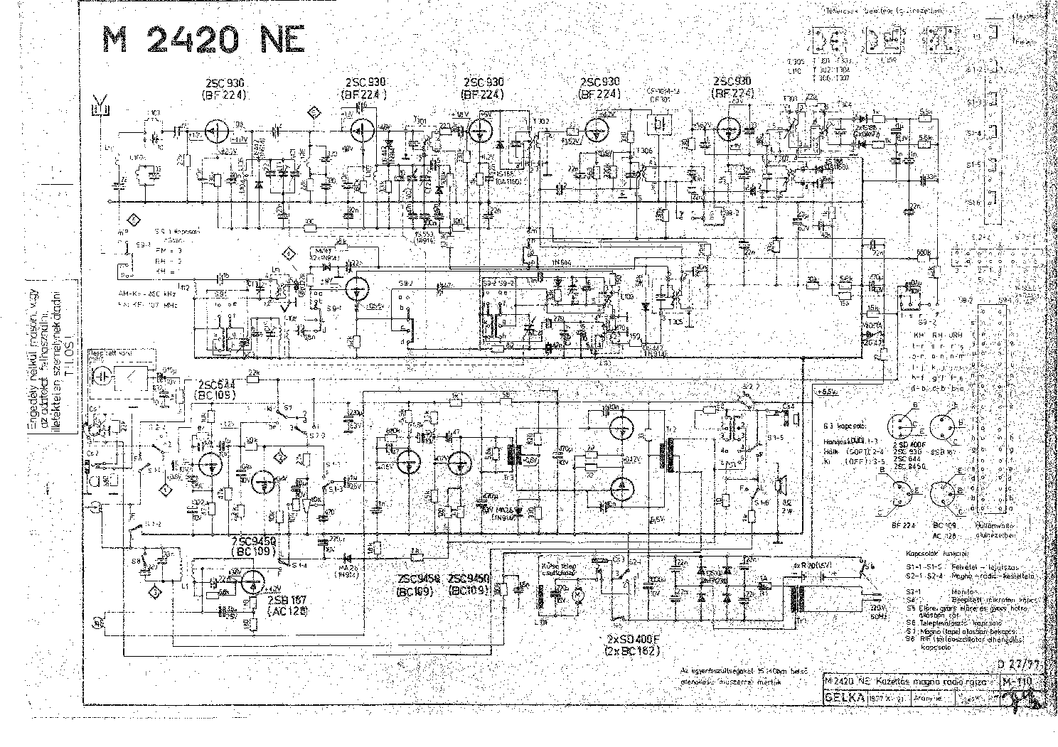 SANYO M-2420-NE SCH 2 Service Manual download, schematics