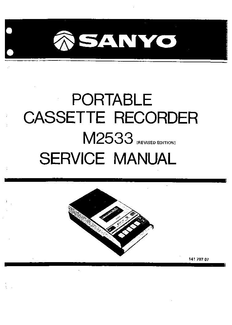 SANYO M7770K SM Service Manual download, schematics, eeprom, repair info for electronics experts
