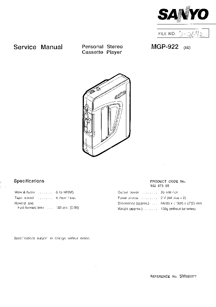 SANYO RPM-6800U SCH Service Manual download, schematics