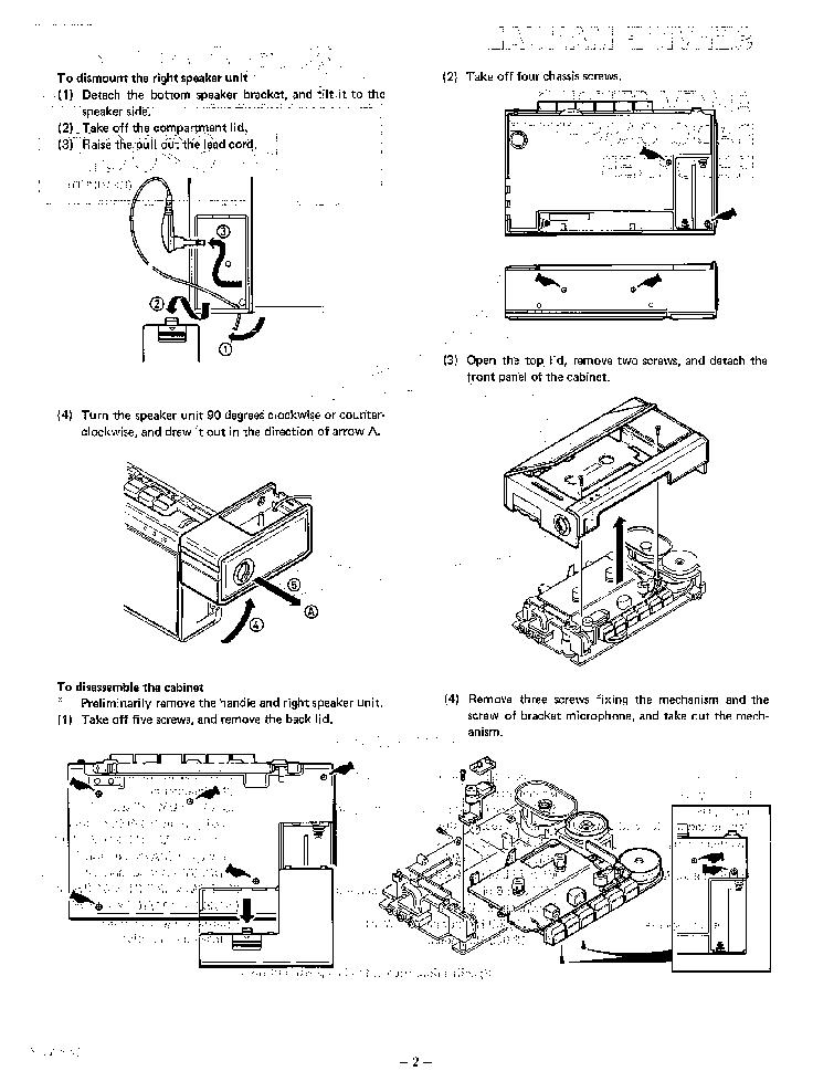 SANYO MS-2000F RADIO CASSETTE RECORDER SM Service Manual