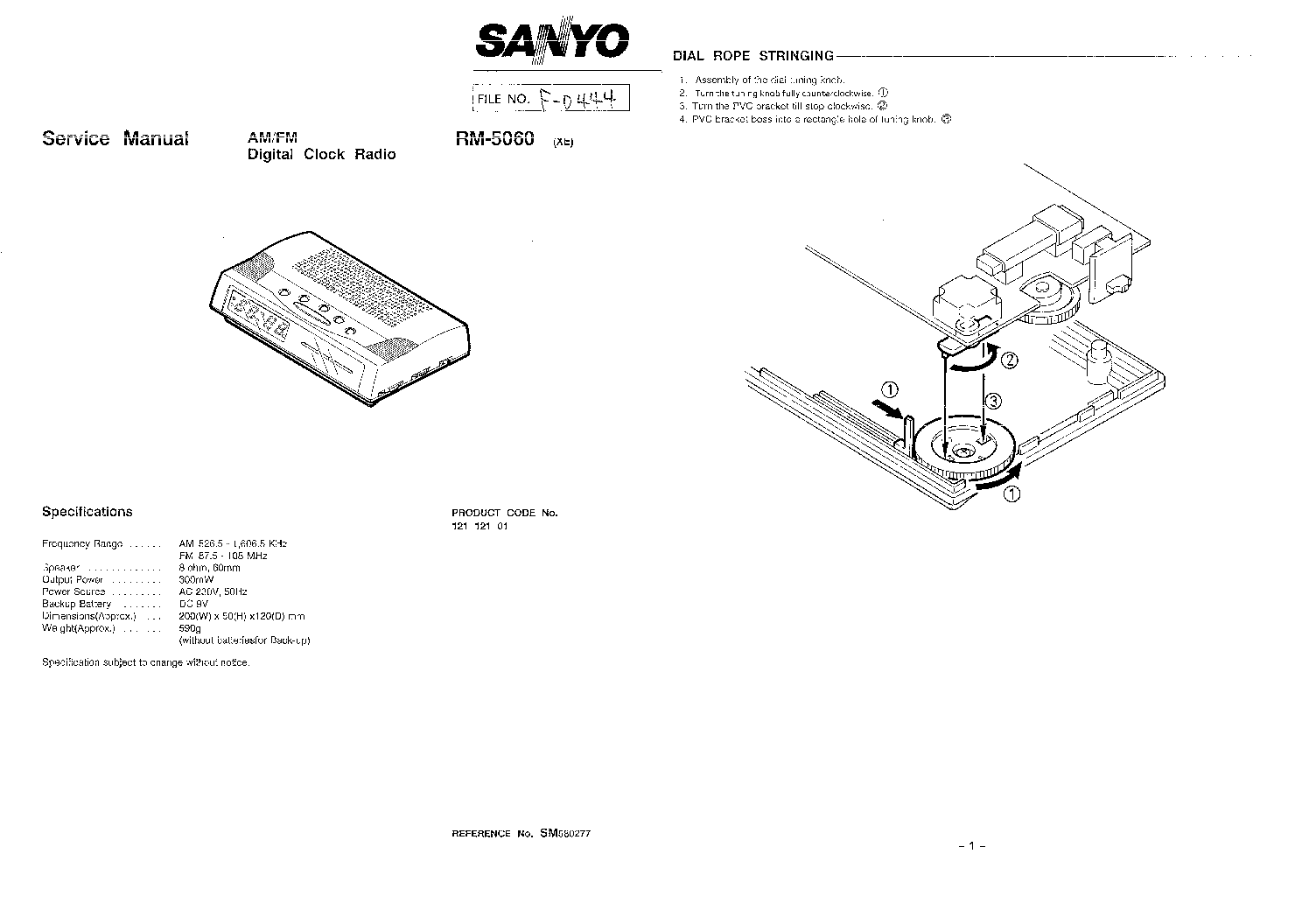 SANYO DCS-DTA200 DTA-200 SM Service Manual free download