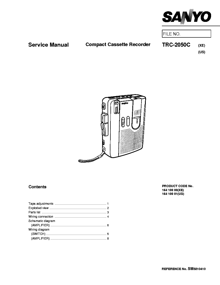 SANYO RP-5040 Service Manual free download, schematics