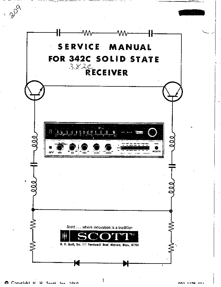 SCOTT R316 R326 R526 SM Service Manual download