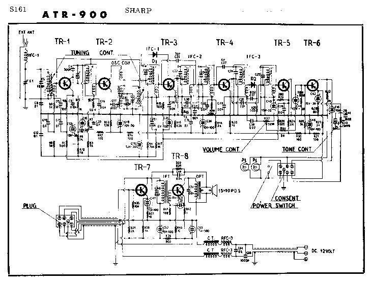 SHARP CD-BA1600 Service Manual download, schematics