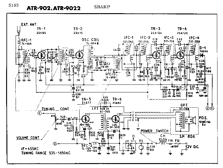 SHARP CD-BA1600 Service Manual download, schematics