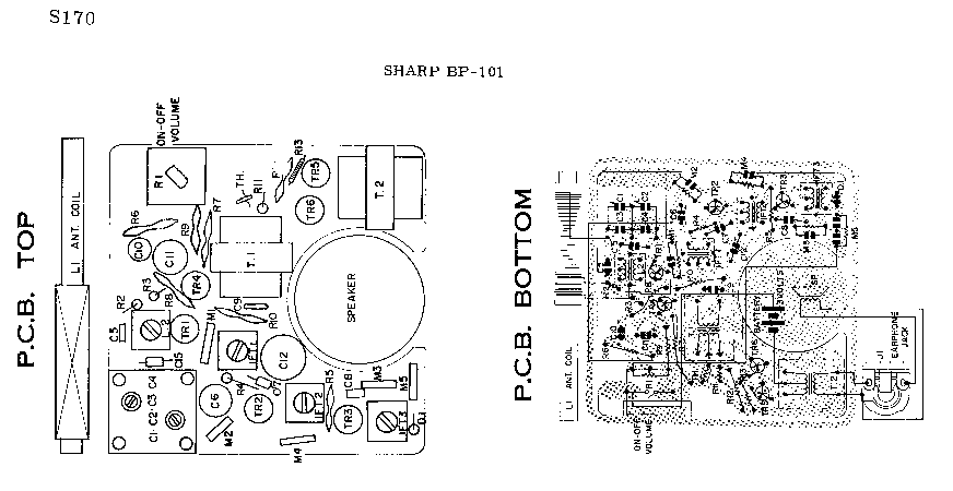 SHARP BP-101 SM Service Manual download, schematics