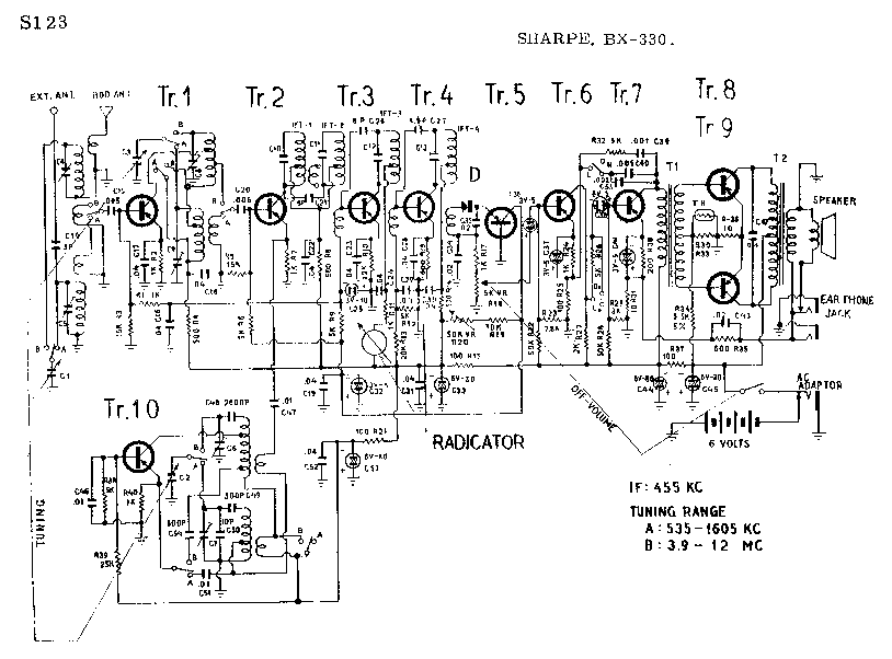 SHARP BX-330 SCH Service Manual download, schematics