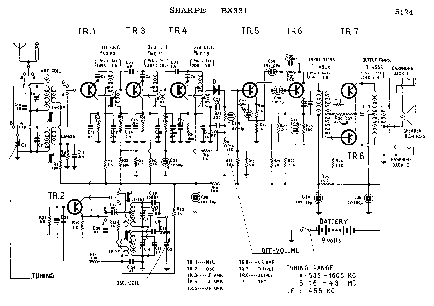 SHARP BX-331 SCH Service Manual download, schematics
