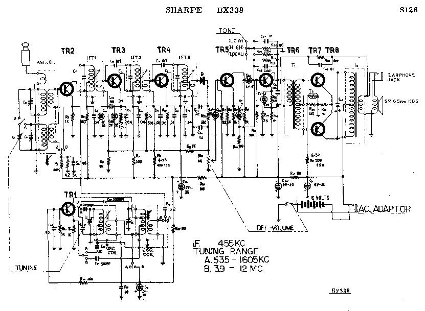 SHARP BX-338 SCH Service Manual download, schematics