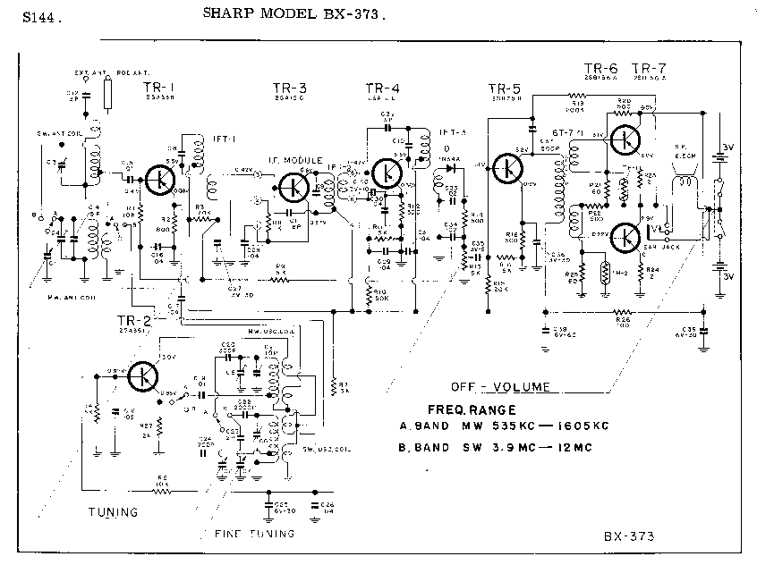 SHARP BX-373 SCH Service Manual download, schematics