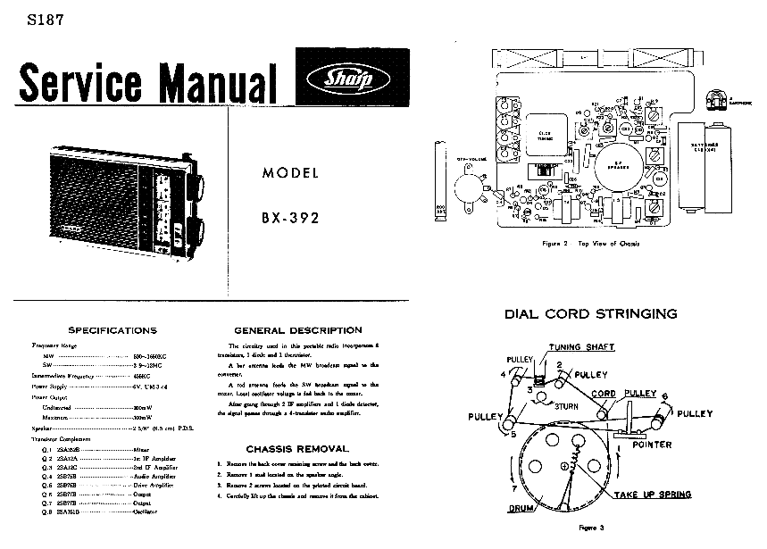 SHARP CD-MPX850 Service Manual download, schematics