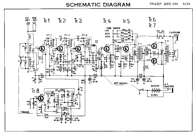 SHARP BXS-338 SM Service Manual download, schematics
