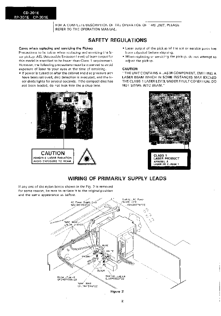 SHARP CD-301E RP-301E CP-301E Service Manual download
