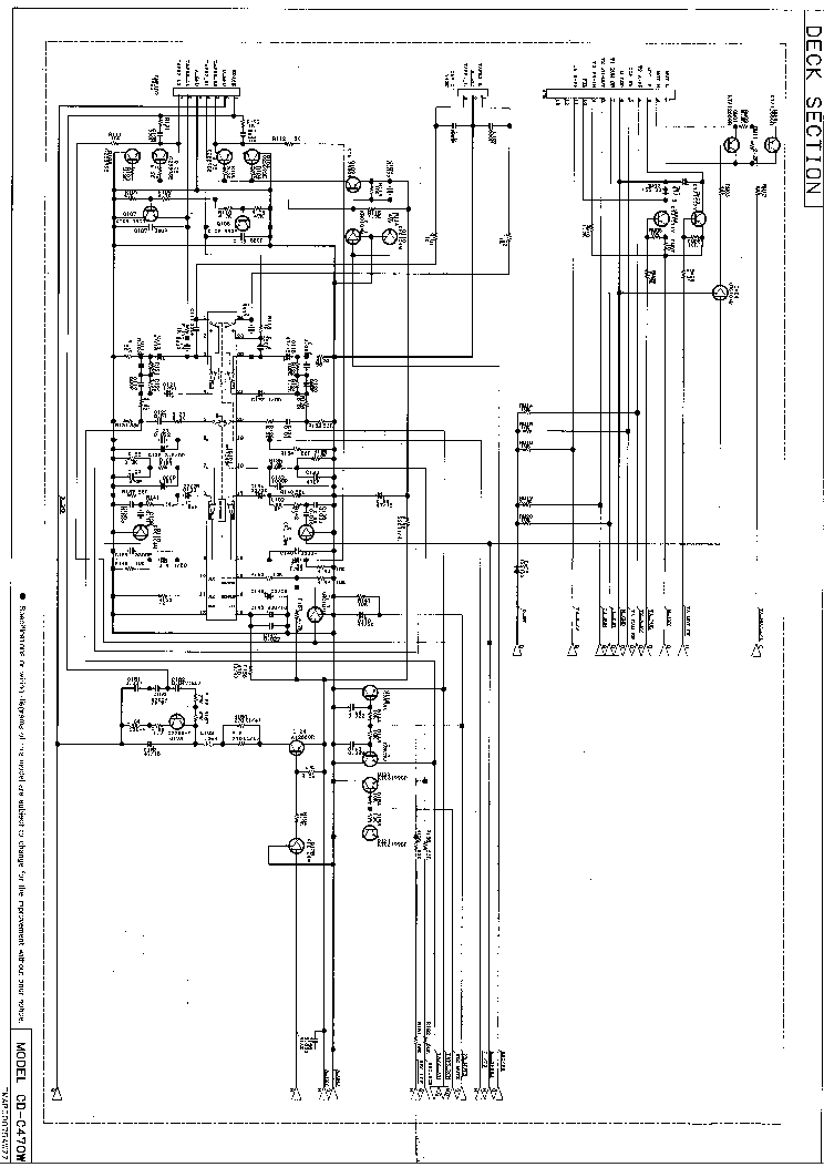 SHARP CD-C470 Service Manual download, schematics, eeprom