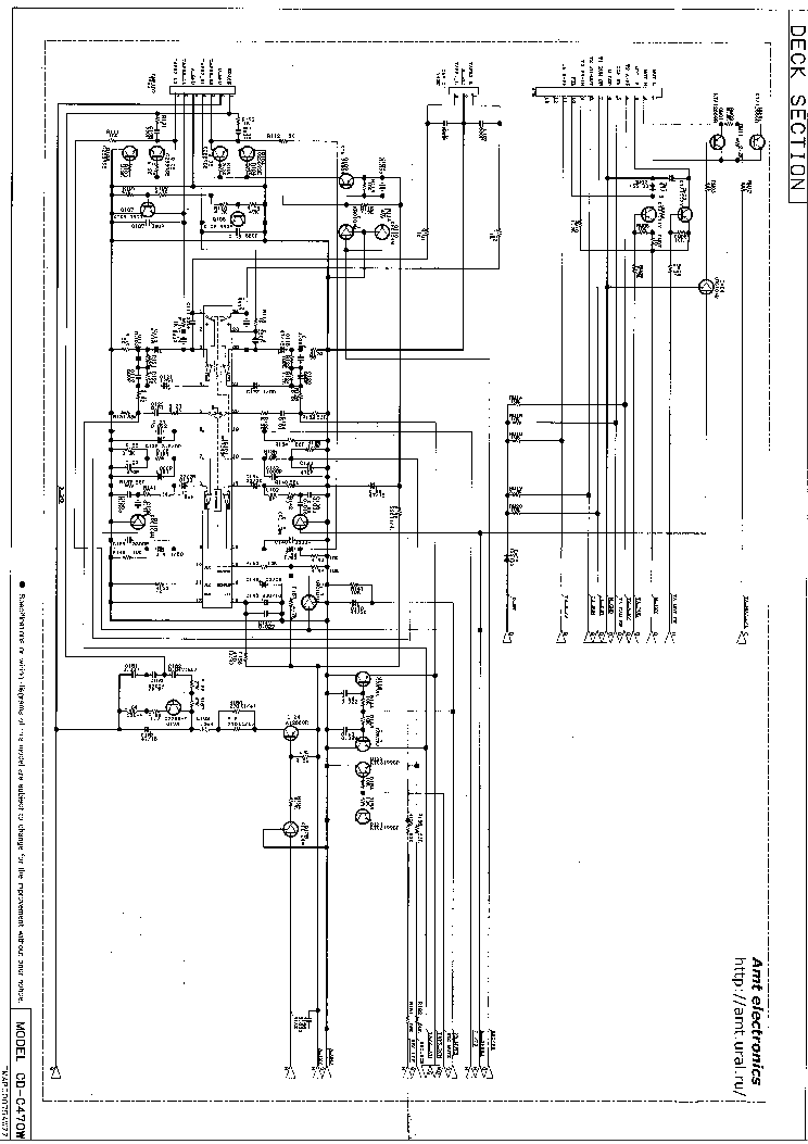 SHARP CD-C470W Service Manual download, schematics, eeprom