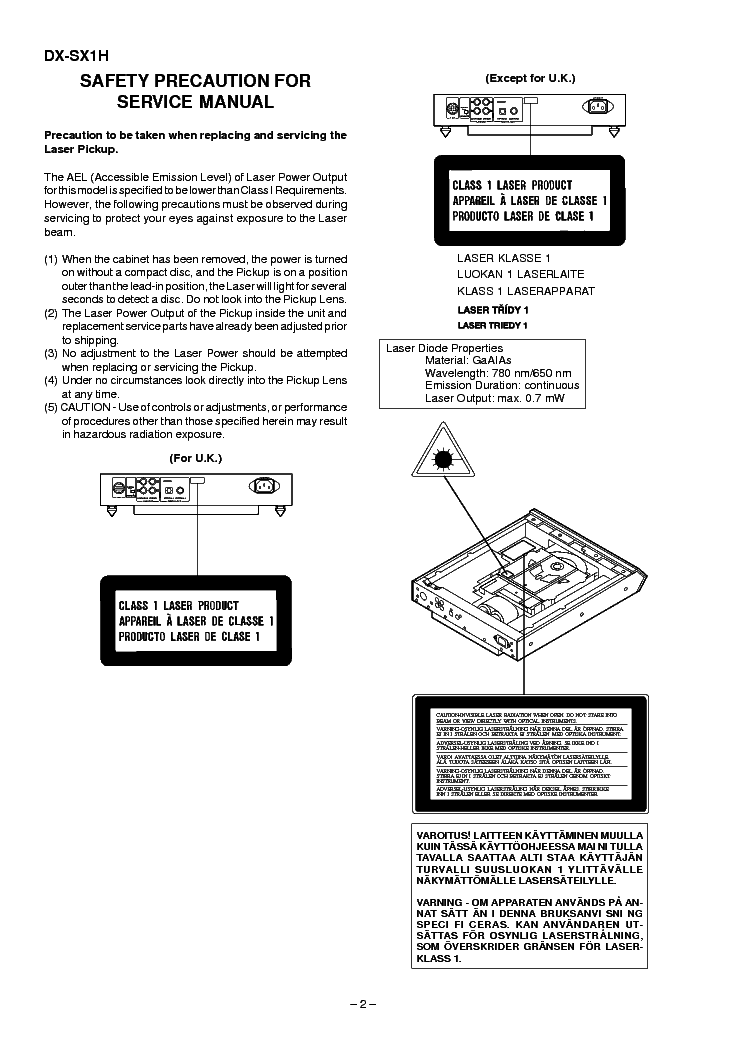 SHARP DX-SX1H SM Service Manual download, schematics
