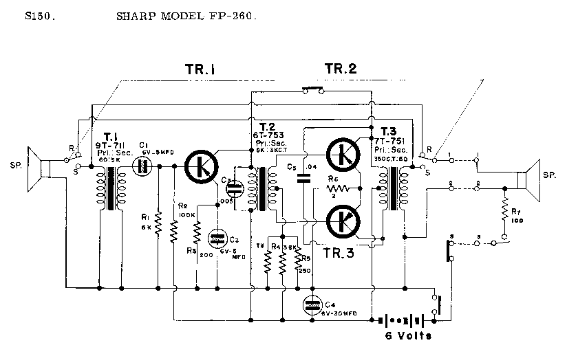 SHARP FP-260 SCH Service Manual download, schematics